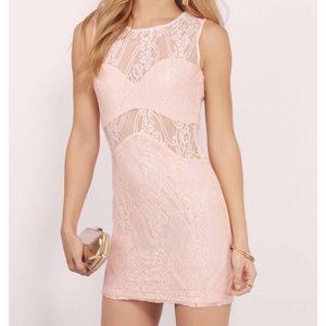 """Tobi"" Lace Bodycon Dress (Peach)- NEVER WORN!!"